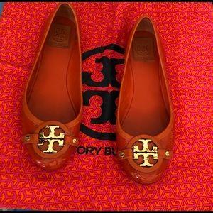 Tory Burch- Orange Closed Toe Ballet Flats